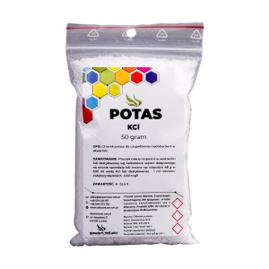 POTAS - KCl 50 g (CZYSTY DO 99,9%)
