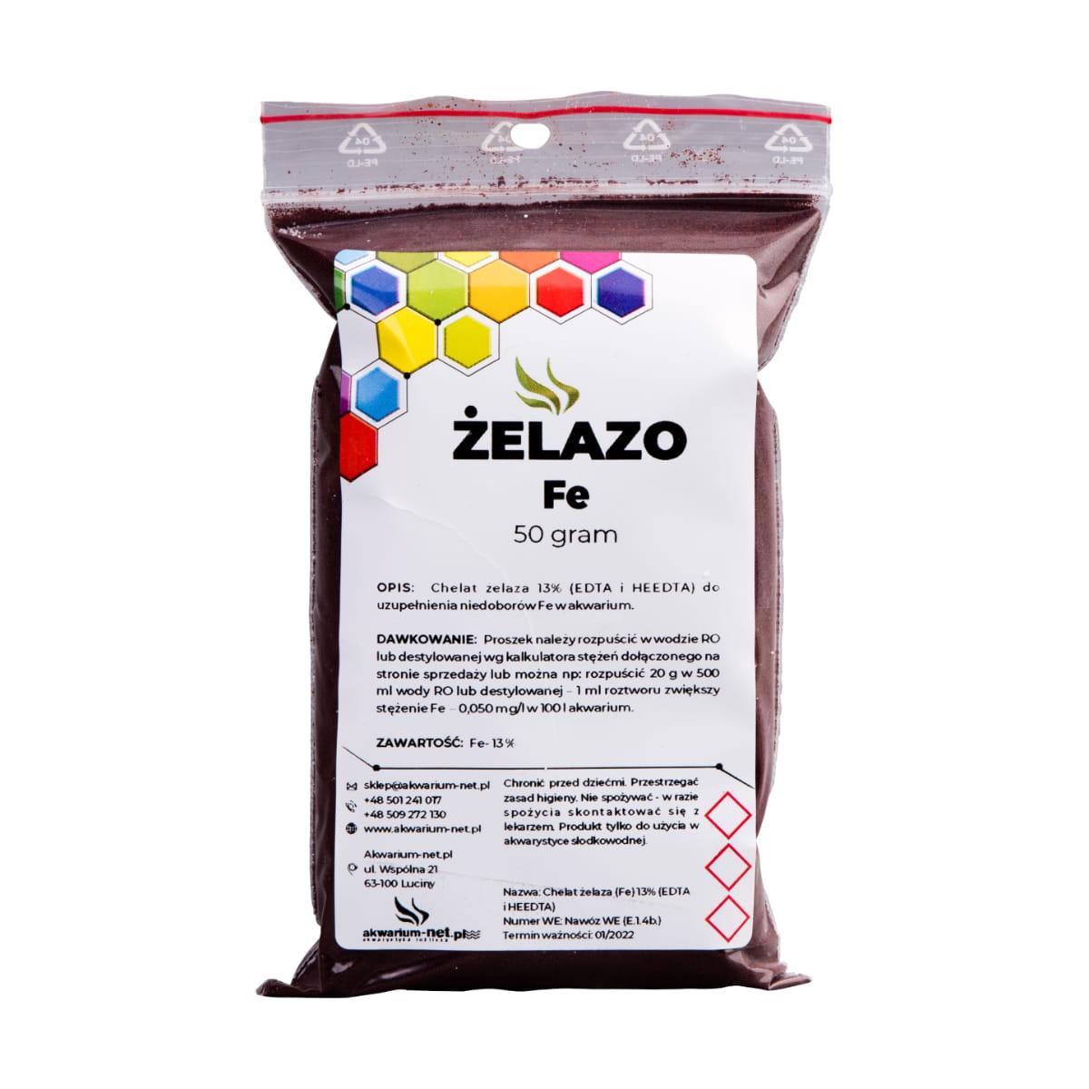Zupełnie nowe ŻELAZO - CHELAT Fe 13% 50 g Sklep AKWARIUM-NET: Rośliny akwariowe MS72